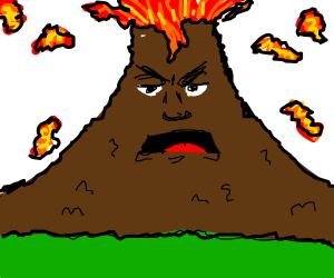 Volcano man erupts