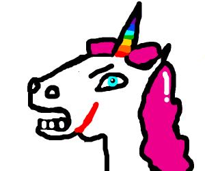 Badass unicorn with a scar
