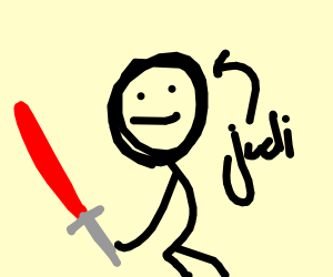 jedi with lightsaber