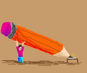 Big pencil diagnal