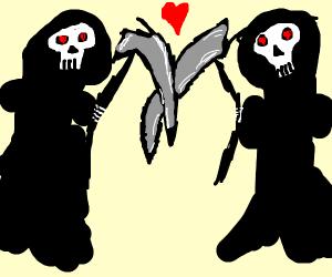 grim reapers fall in love