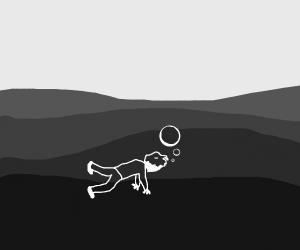 guy drowning