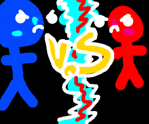 blue stickman vs red stickman