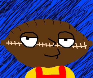 Stewie's head is a american football