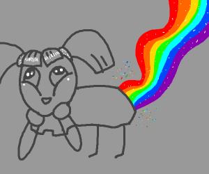 A preteen embraces her LBGTQness. Rainbow!