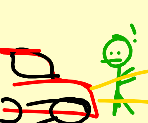 zombie about to get hit by car