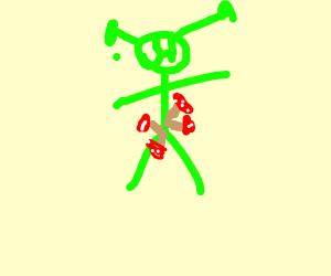 shrek has a fungal infection on his genitalia