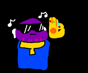 Cool Thanos snapping his fingers to music