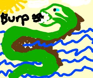 a burping sea monster