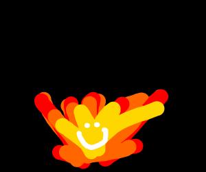 happy fire guy