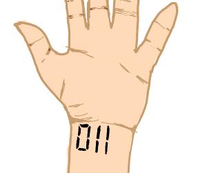 011 tattoo on wrist