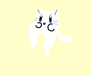white cat Krby with Thicc legs (?)