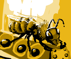 Bee driving a Buzz