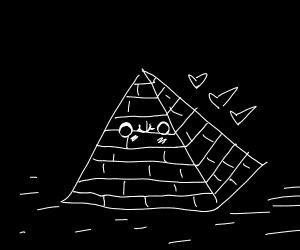 Egyptian pyramid smiling