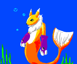 Renamon Mermaid