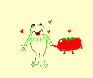 Kermit is in a relationship with a tomato