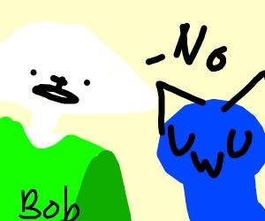 UwU blue cat snuggles u