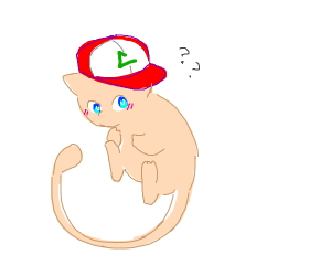 Mew with a hat