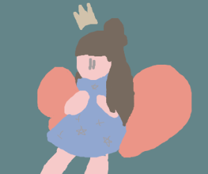 Princess fairy with pink wings