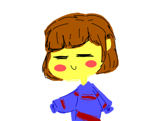 undertale main character (in stripes)
