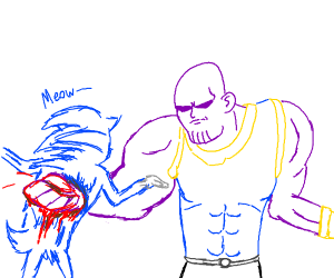 Thanos kills sonic