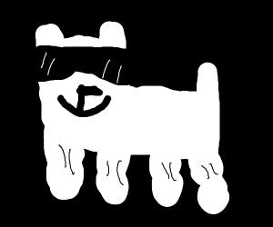 sexy buff doggo w muscular legs & sunglasses