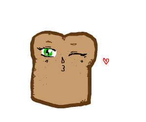 Bread but it's an anime girl