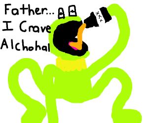 Drunk Kermit