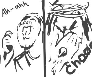 Jesus sneezes