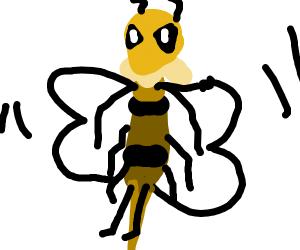 Armored humanoid bumblebee