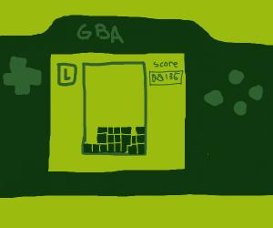 Tetris on the Game Boy!