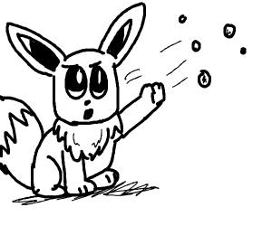Eevee throws marbles