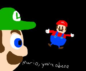 Luigi calls mario obese