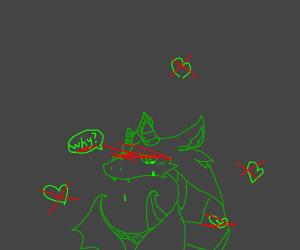 Crying green Dragon
