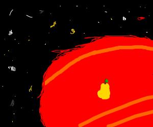 Pear on Mars