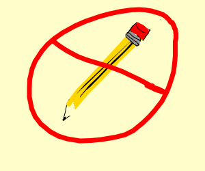 This is a no pencil zone