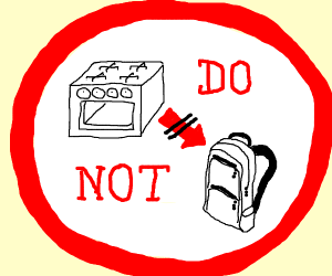 Don't put ovens in bags!!!