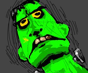 Bright green frankenstein