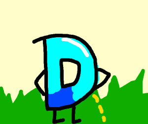 Drawception D looks like he's peeing