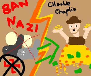 charlie chaplin rich after banning nazis