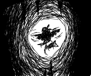 Crow in a Cave
