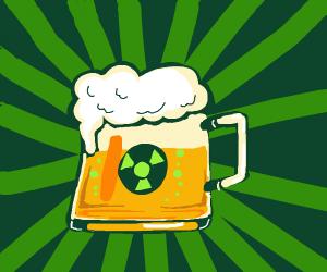 radioactive mug of beer