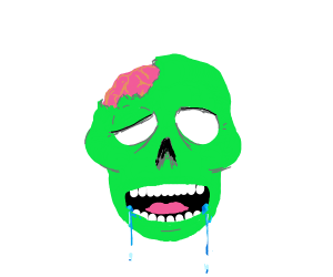 Drooling zombie