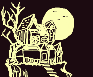 A haunted mansion