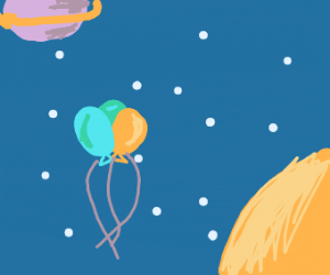balloons in space