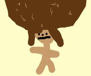 Girl with a HUGE afro