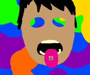 Ingesting a tab of LSD