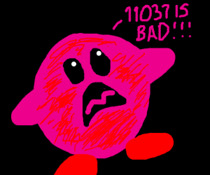 Kirby exclaims 11037 is bad