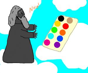 Metal god is impressed by palette