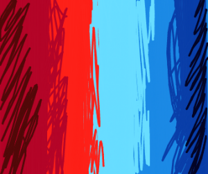 Red and blue gradient